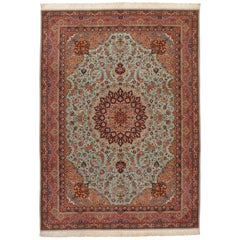 2oth Century, Light Blue Tabriz Narvani Rug