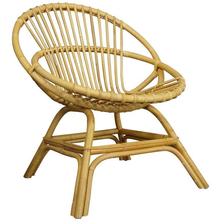 Armchair in Natural Rattan Cane