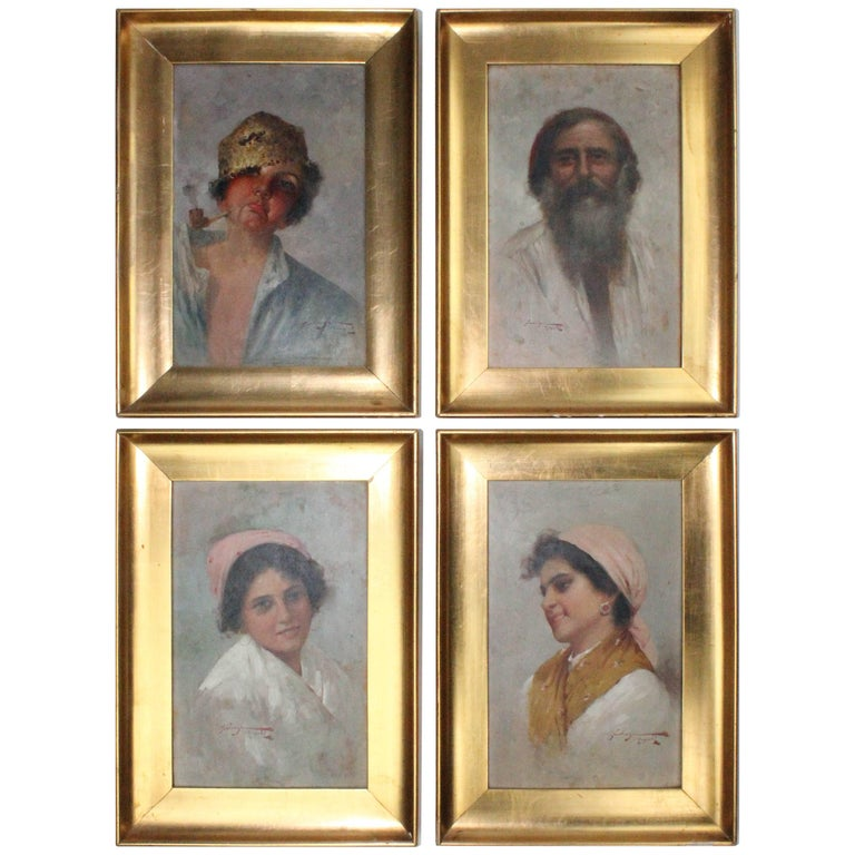 Dominica Forlenza, a Wonderful Set of Four Signed Paintings