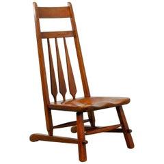 Original Solid Maple Cushman Side Chair Designed by Herman de Vries, 1930s