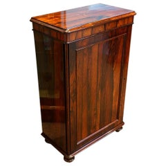 William IV Rosewood Small One-Door Side Cabinet