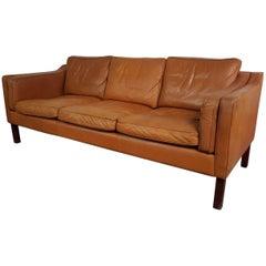 Vintage Midcentury Danish Mogensen Style Three-Seat Sofa