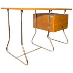Functionalist Czech Chrome Plated Writing Desk by Kovona, 1950s