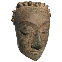 Fragment of Bronze Head of Buddha, Thailand