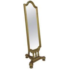 Hollywood Regency Style Giltwood Cheval Floor Mirror, circa 1960s