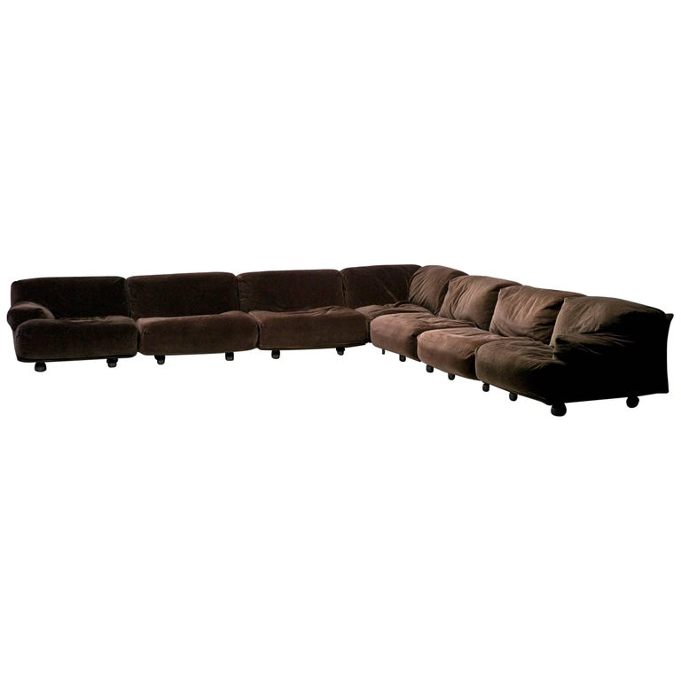 Very Large Fiandra Modular Sofa by Vico Magistretti for Cassina