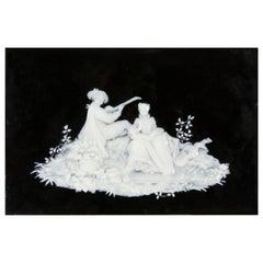 19th Century Pate-Sur-Pate Porcelain Plaque Scene Signed J. H. Cope & Co.