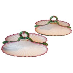 Rare Pair of 19th Majolica Serving Dish Minton