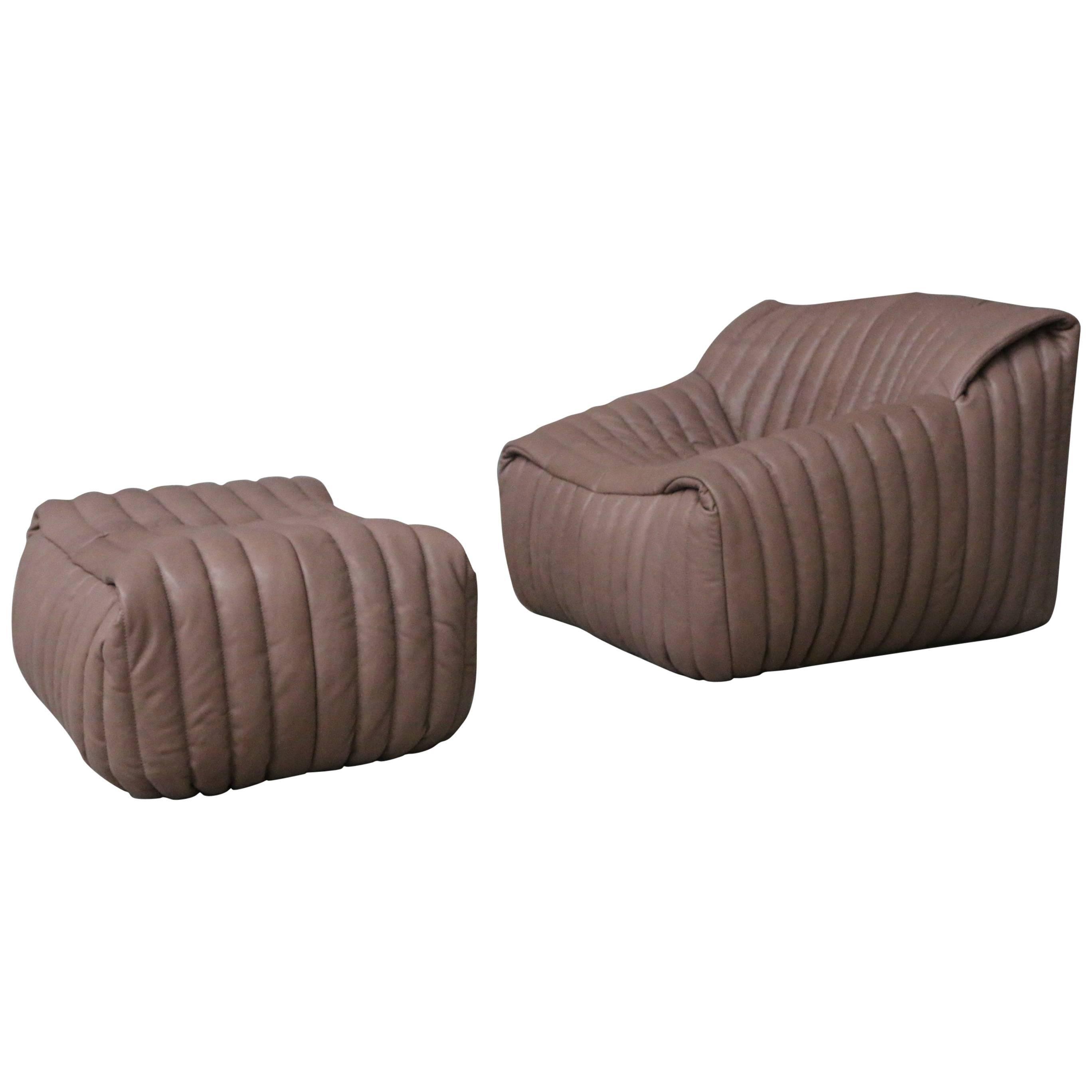 Lounge Chair And Ottoman Model Sandra By Cinna U0027Ligne Rosetu0027 ...