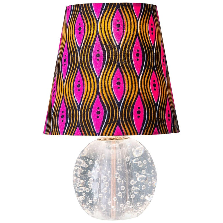 Vintage Murano Table Lamp For Sale