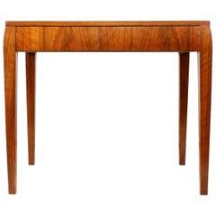 Art Deco Walnut Side Table, circa 1930