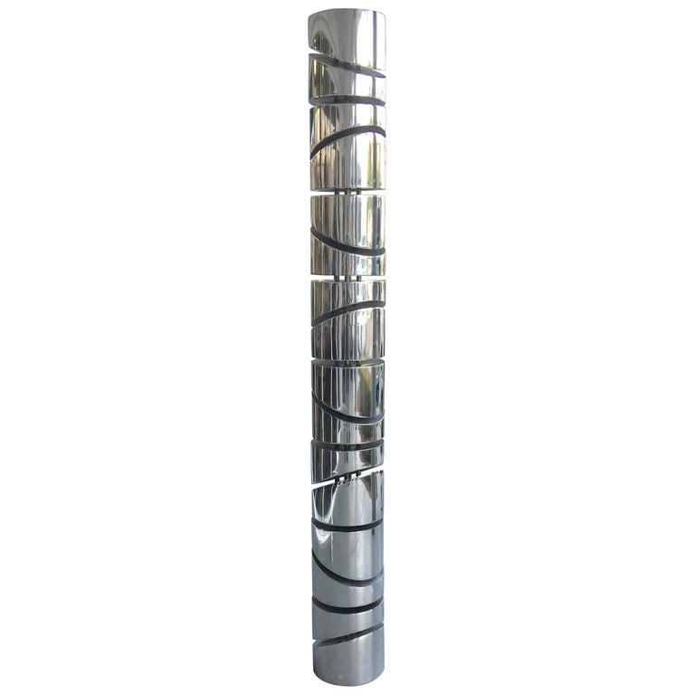 Itzhak Shmueli Unique Stainless Steel Tower Sculpture For Sale