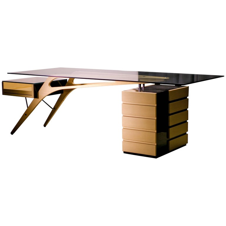Cavour Desk By Zanotta Homage To Carlo Mollino At 1stdibs