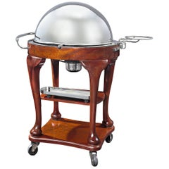 Silverplate Meat Serving Trolley