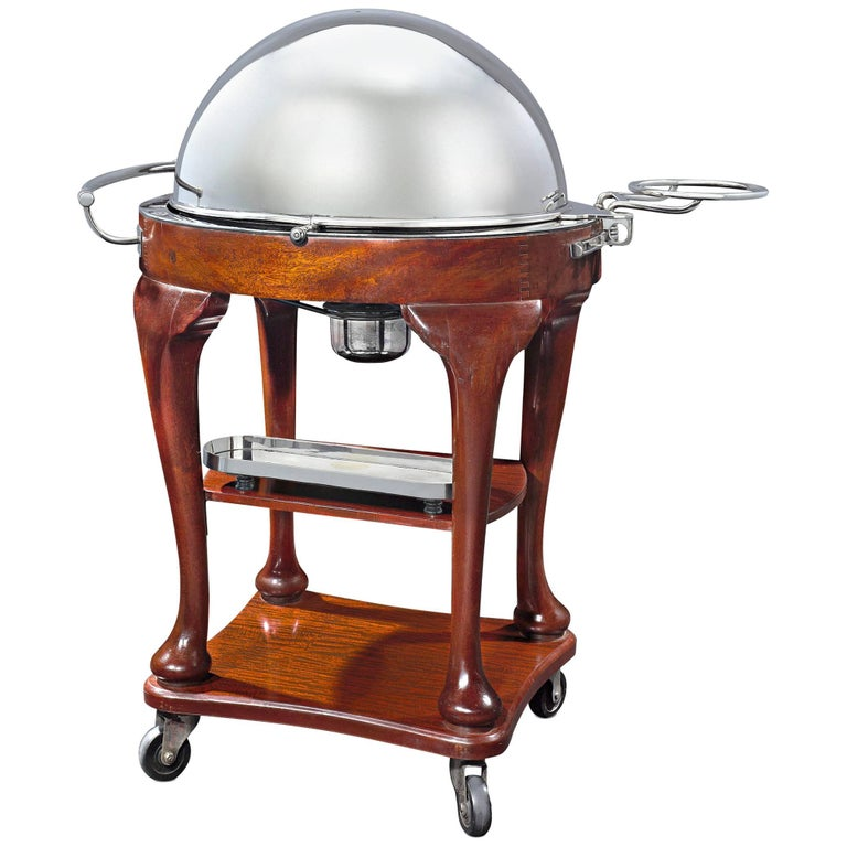 Silverplate Meat Serving Trolley  For Sale