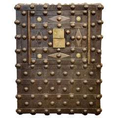 Beautiful Early 19th Century French Empire Studded Safe, Trunk