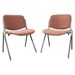 Italian Desk Chairs by Giancarlo Piretti for Castelli, 1960s, Set of Two