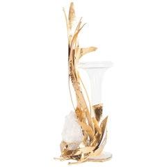 Brass Regency Marc D'Haenens Vase