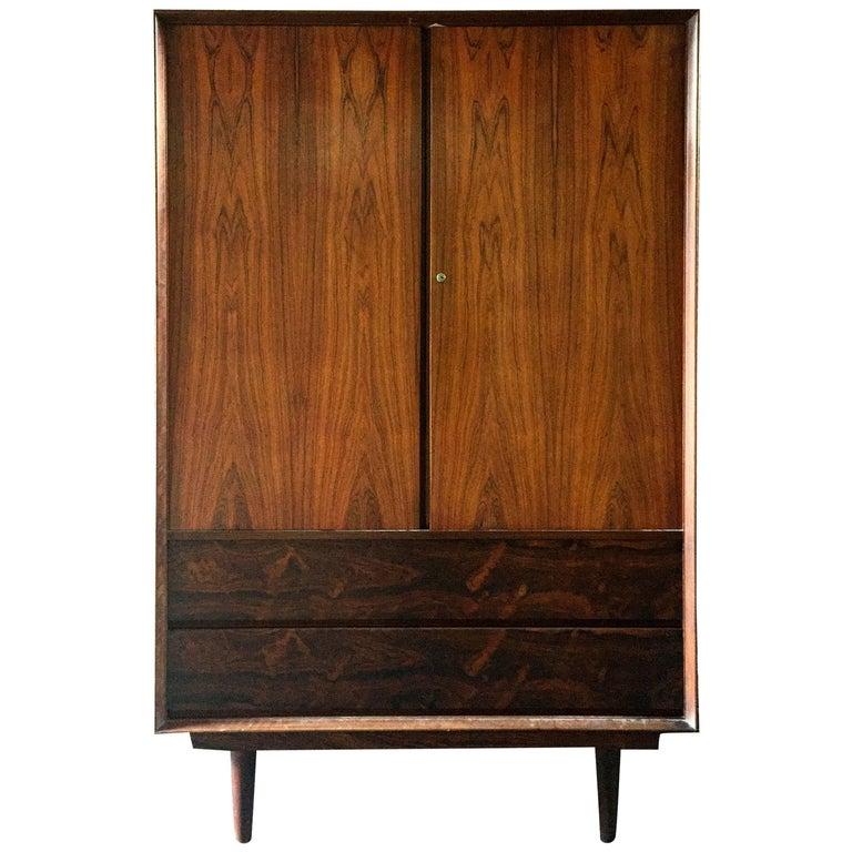 Tall Danish Modern Rosewood Dresser