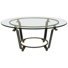 Art Deco Coffee Table or Accent Table Glass Top