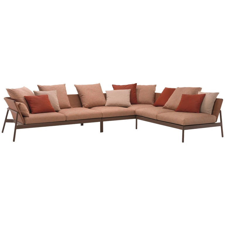 Roda Indoor or Outdoor Piperlow Sectional Designed by Rodolfo Dordoni For Sale