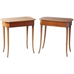 Pair of Biedermeier Side Tables