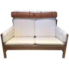 Borge Mogensen Two-Seat Oak Sofa, Model 2252, by Fredericia Stolefabrik