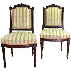 Pair Louis XVI Style Sidechairs