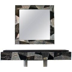 Paul Evans Argente Mirror and Console