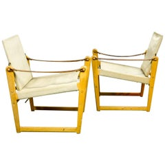 Pair of Midcentury Safari Chairs Designed by Bengt Ruda for Ikea, 1960s