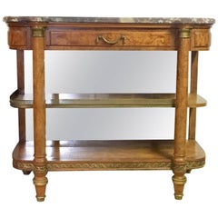French 19th Century Marble Top Etagere