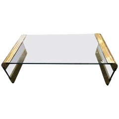 Coffee Table by Pace Collection Waterfall Design