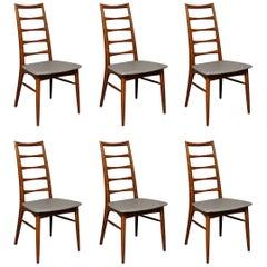 Niels Koefoed for Koefoed Hornslet, Set of Six Danish Teak 'Lis' Dining Chairs