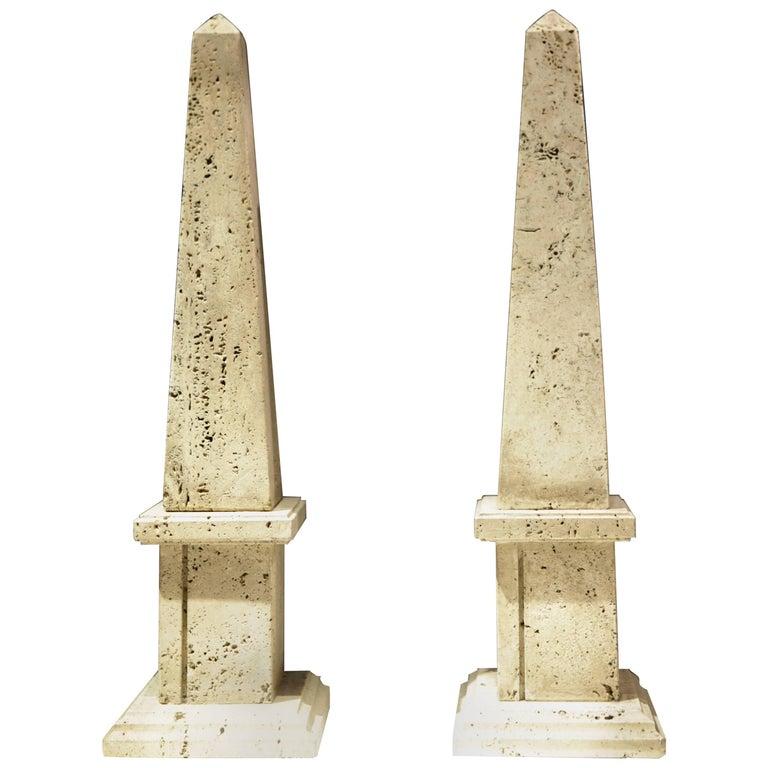 Italian Architectural 'Travertine Obelisks' 1940s
