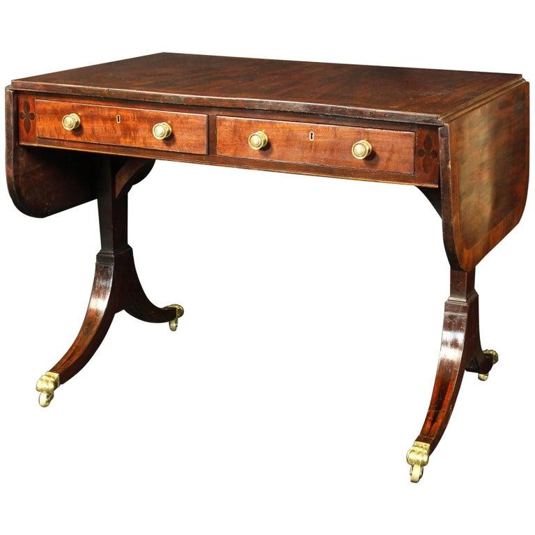 Regency Mahogany Sofa Table For