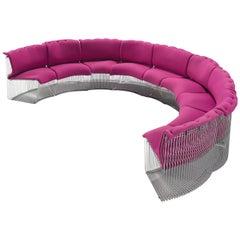 Verner Panton for Fritz Hansen Pink 'Pantonova' Sofa