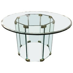 Pace Collection Round Glass Dinning Table