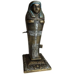 Erotic Bergmann Bronze Modelled as an Egyptian 'Mummy' Sarcophagus with Nude