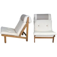 Pair of Danish 'a Frame' Lounge Chairs by Bernt Petersen