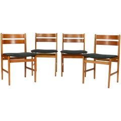 Set of Four Danish Curved Back Chairs after Kurt Ostervig
