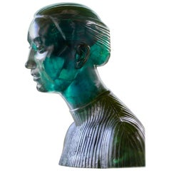 Spectacular and Amazing Cristal Rock Effect Lady Bust