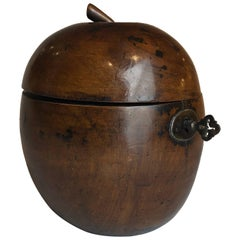 18th Century Apple Shaped Tea Caddy Treen, circa 1790