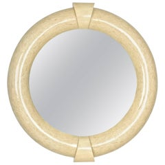 Large Tessellated Bone Mirror in Style of Karl Springer