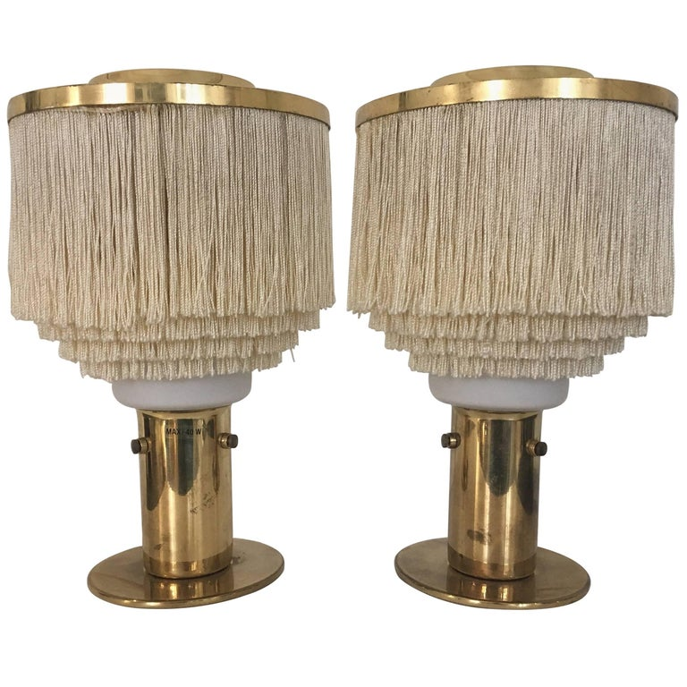 Pair of Fringed Hans-Agne Jakobsson Table Lamps, Model B-145