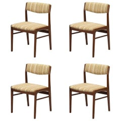Set of Four Danish Modern Rosewood Dining Chairs by Thorso Stole