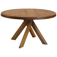 Pierre Chapo Sfax Dining Table in Solid Elm