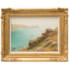Porthcurno Bay, an Landscape Painting by Albert Starling