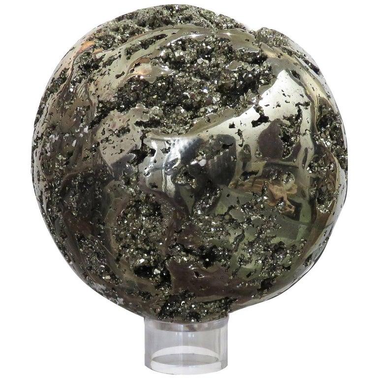 Large Peruvian Pyrite Sphere