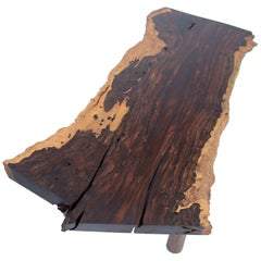 Ziricote Slab Coffee Table, Single Edition