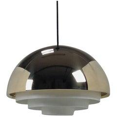 1960s Danish Jo Hammersborg Milieu Brass Lamp by Fog & Mørup